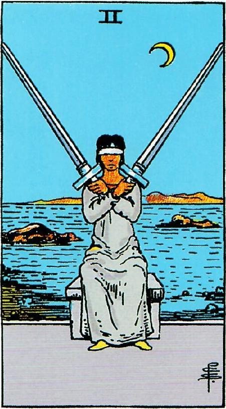 קלף שתי חרבות בקלפים של ריידר