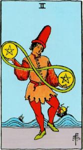 קלף שני מטבעות בקלפים של ריידר