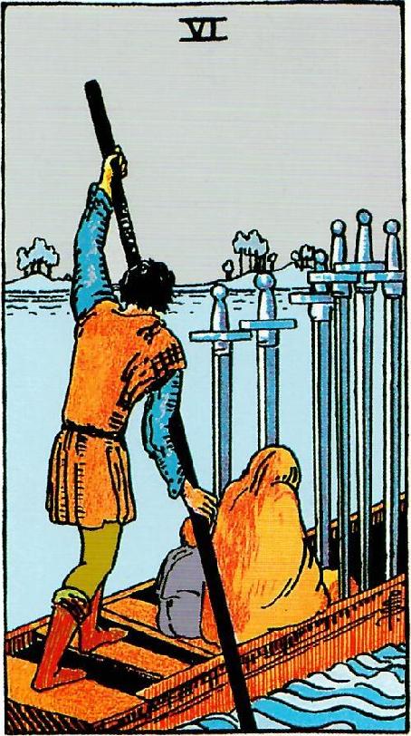 קלף שש חרבות בקלפים של ריידר