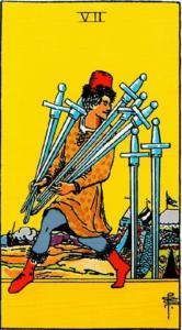 קלף שבע חרבות בקלפים של ריידר