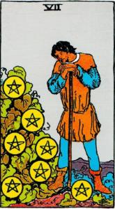 קלף שבעה מטבעות בקלפים של ריידר