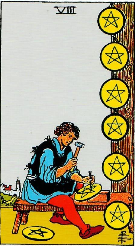 קלף שמונה מטבעות בקלפים של ריידר