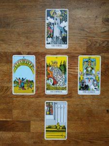 פריסה בסיסית ל 5 קלפים בטארוט